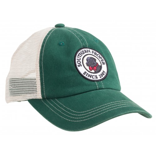 Original Logo Patch Trucker: Green